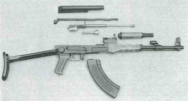 AK 47 4 mit Klappschaft zerlegt