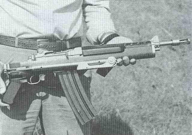 Ruger AC 556 F 3 Schaft eingeklappt