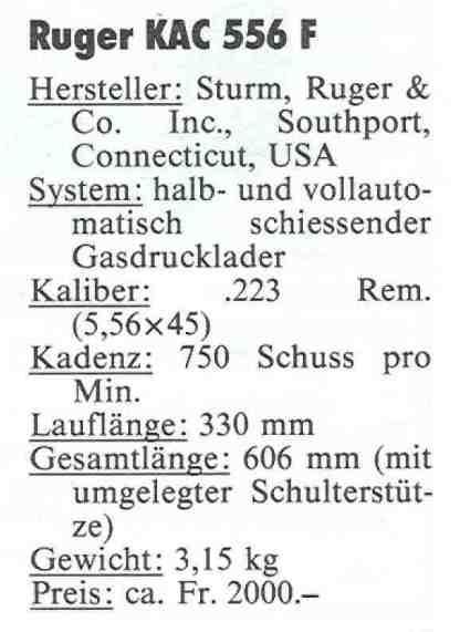 Ruger AC 556 F 5 Daten