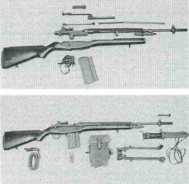 US M14 zerlegt + mit Zubehör