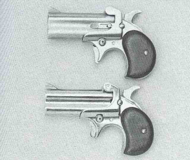 American Derringer 07 44 Mag + 9 Para von links