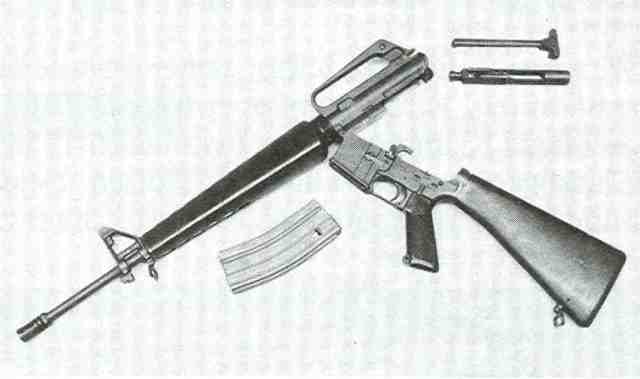 M 16 5 Colt M 16 zerlegt