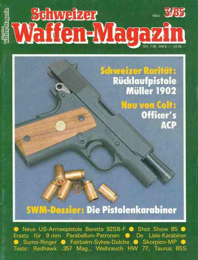 Schweizer Waffen-Magazin 3-85 Titelseite