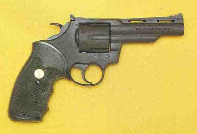 """Peacekeeper mit 4""""-Lauf, rechte Seite der Waffe."""