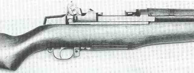 Verschluss des amerikanischen Halbautomaten .30 M1 Rifle im Kaliber .30-06.