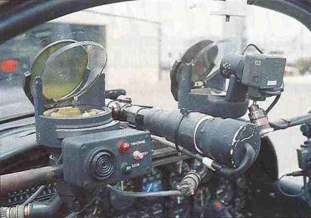 """Die Bewaffnung der Air-Combat-Maschinen: Laserkanone mit Visiereinrichtung. Ihr entkommt kaum ein """"Gegner""""."""