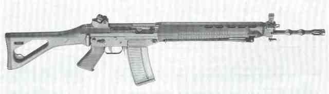 SIG-Sturmgewehr 550, besser bekannt unter der Bezeichnung Stgw 90 – das neue Sturmgewehr der Schweizer Armee.