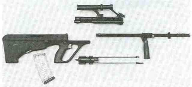 Armee-Universal-Gewehr, zerlegt.