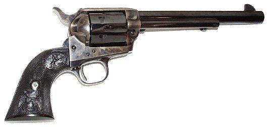 """Colt Single Action Army im Kaliber .38-40 Winchester mit 7 ½"""" langem Lauf."""