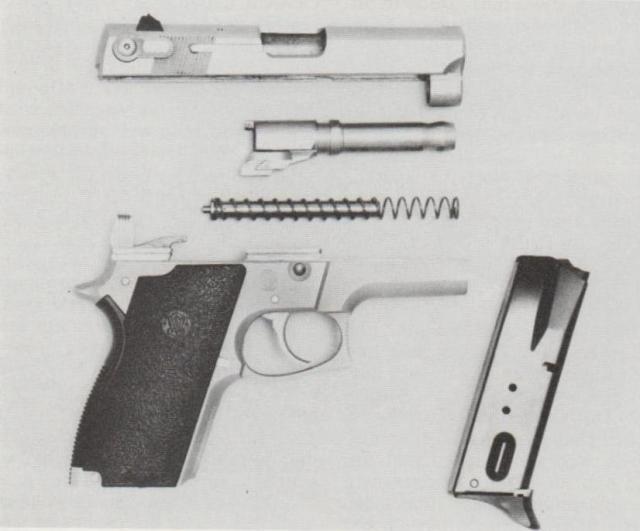 Smith & Wesson M 669, zerlegt.