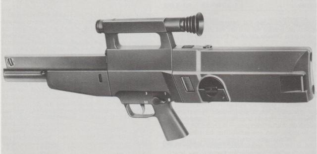 Heckler & Koch-Sturmgewehr G 11 im Kaliber 4,7 x 21 hülsenlos.