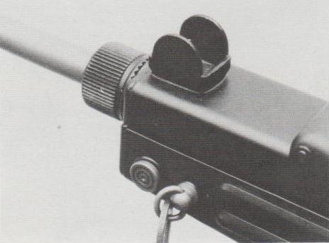 Das geschützte (verstellbare) Korn der Z-84.