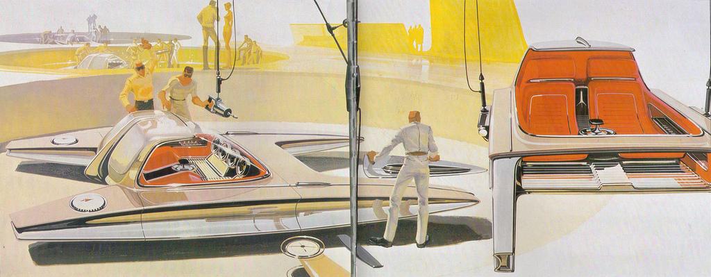 Futurist Painting Car Race
